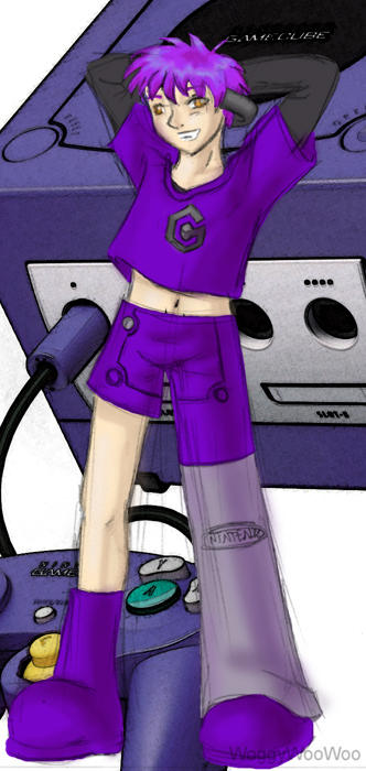 Imagine Gaming Consoles/Software as People^_^ Console_kun___Gamecube_by_WoggyWooWoo