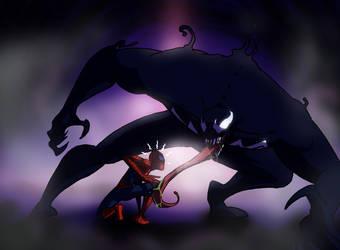 Spider-Man vs Venom by Viktormon