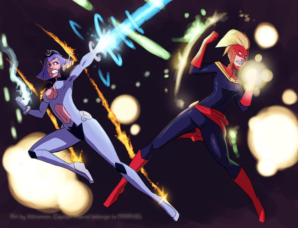 Captain Marvel x Xella Team-Up by Viktormon
