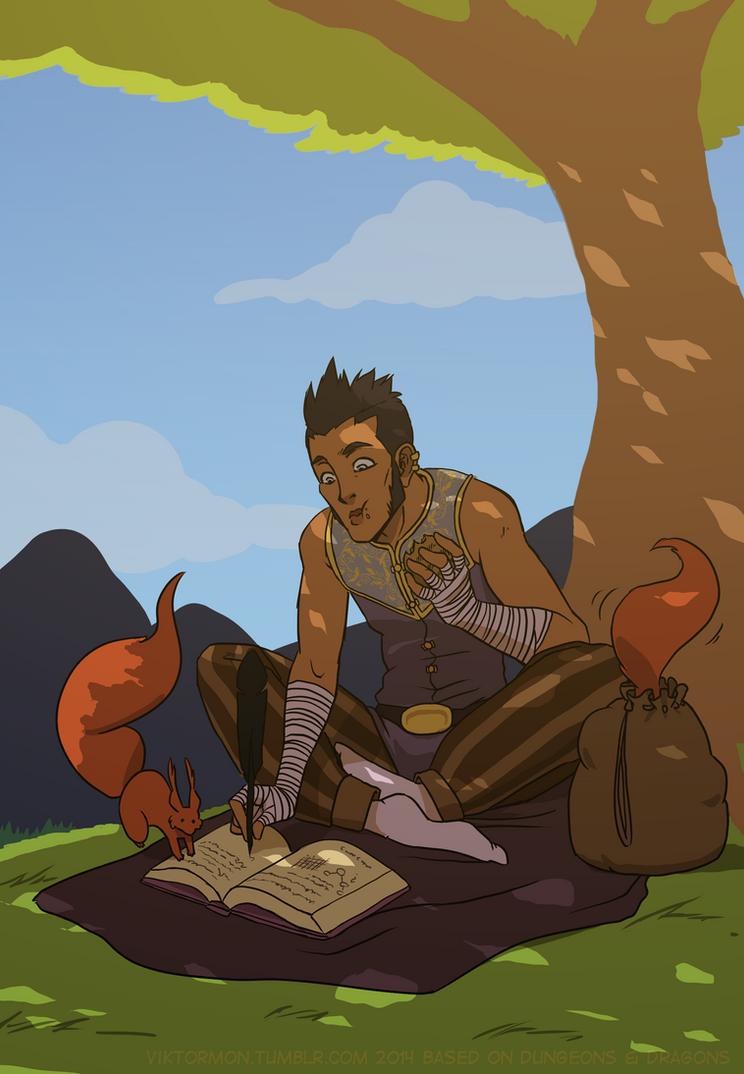 Cenric taking a break by Viktormon