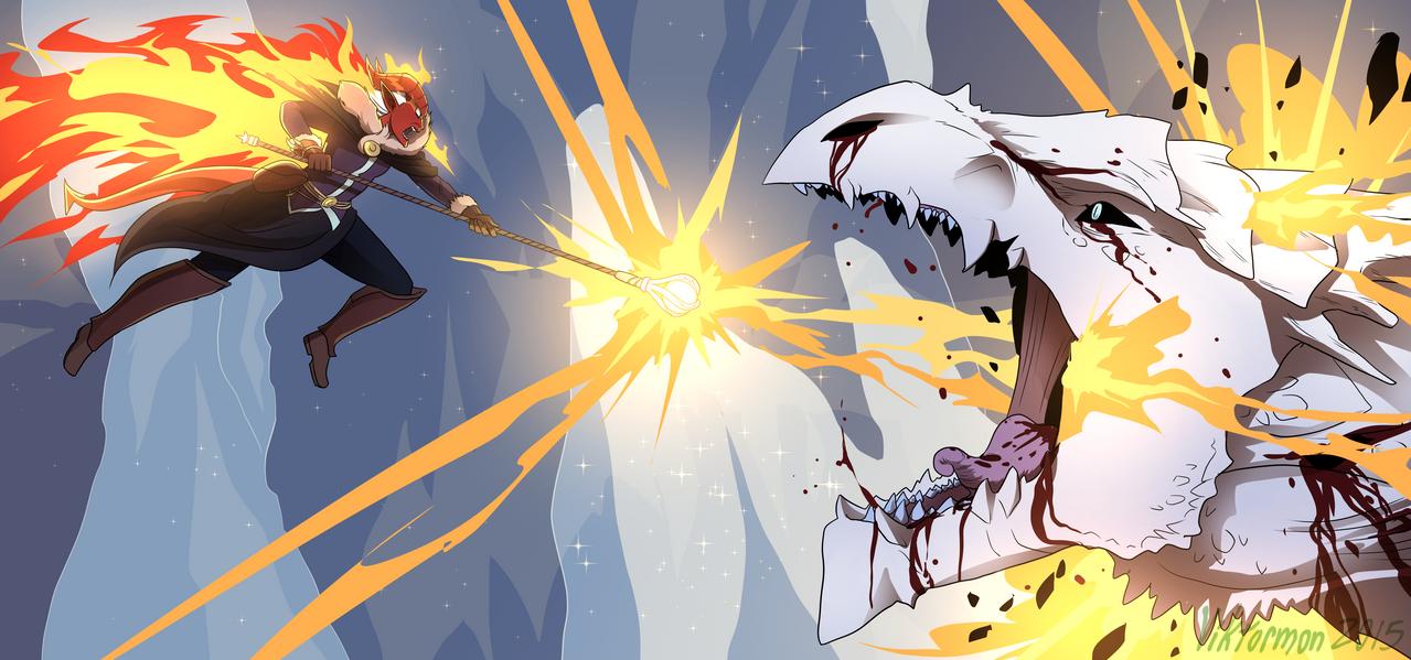 Hellish Rebuke by Viktormon