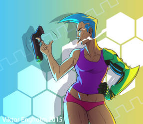 Cyborg Lady by Viktormon