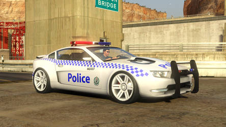 Trackmania 2 Canyon NSW Police (MD) Front by gurb337