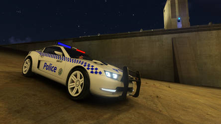 Trackmania 2 Canyon NSW Police (HWP) Front by gurb337