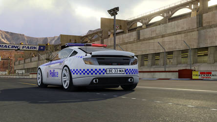 Trackmania 2 Canyon NSW Police (MD) Rear by gurb337