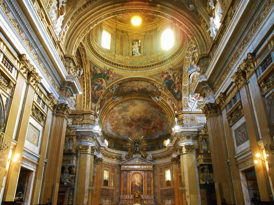 The Interior Of Chiesa Del Gesu by Rayelity