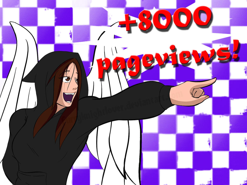 +8000 Pageviews! It mean a lot! by Furryknightlover