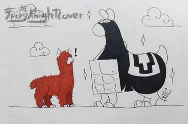 Llama Crazy - Muscles 2017 by Furryknightlover