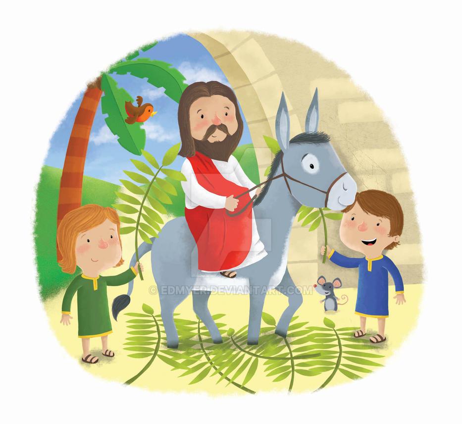 clipart jesus on donkey - photo #18