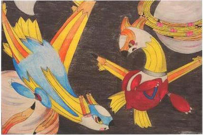 Latios Latias Pencil Project by KiowaLaddie