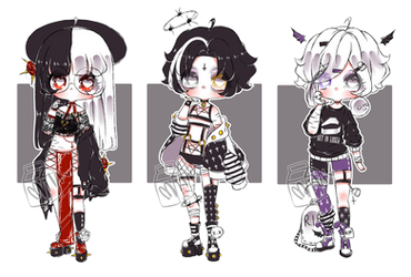  Goth kids CLOSED  by MILK-sshi