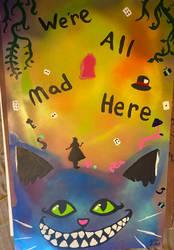 alice in wonderland spray paint