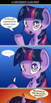 A Concerned Class Pony [Comic Version]