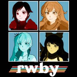 Vintage Themed RWBY Character Poster