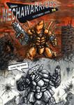 Comic book cover in color