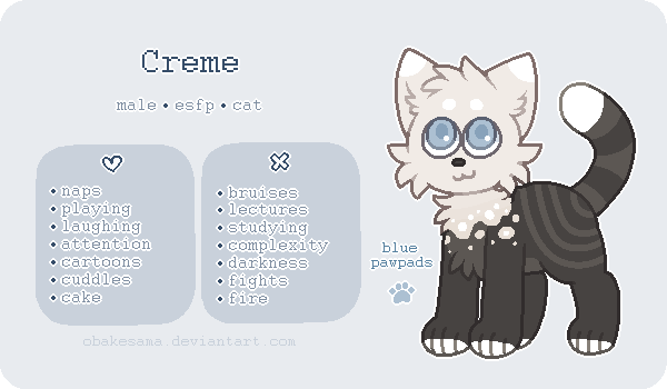 Creme - Reference Sheet by obakesama