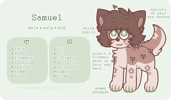 Samuel - Reference Sheet by obakesama