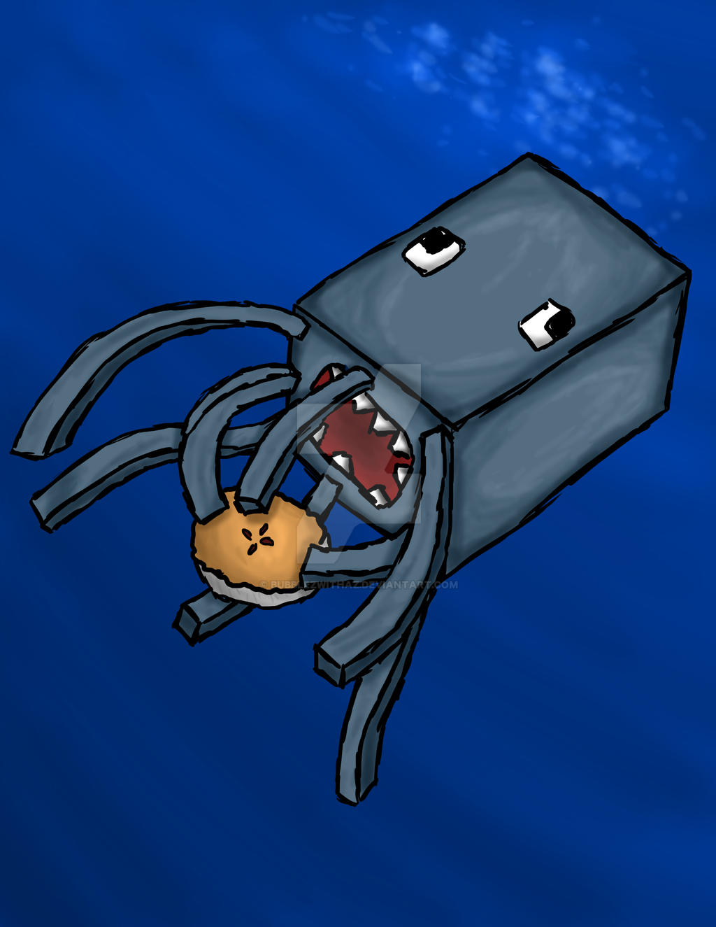 how to catch a squid in minecraft