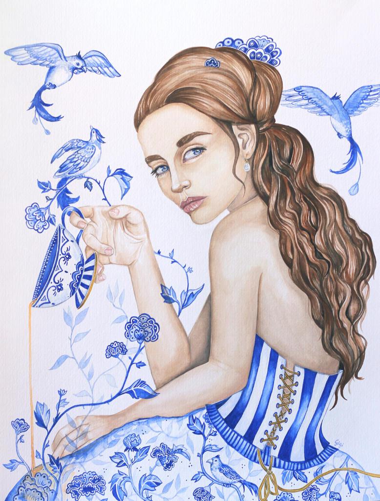 Fine Blue China by narcissagrey