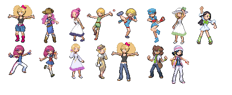 Trainer Sprites, part one by KillingQueens