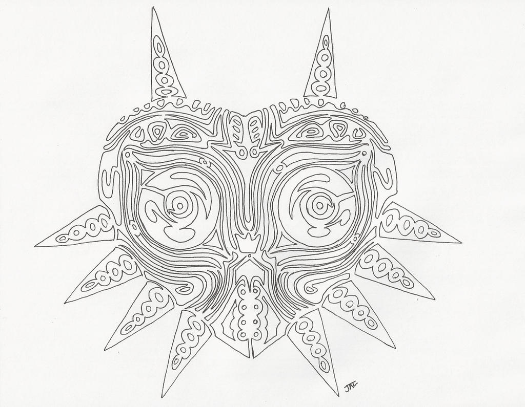 tribal majora's mask line art by neodragonarts on DeviantArt