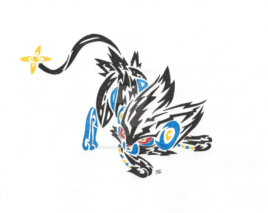 Tribal Luxray By Neodragonarts On Deviantart