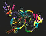 Tribal Dragon Scratch Art