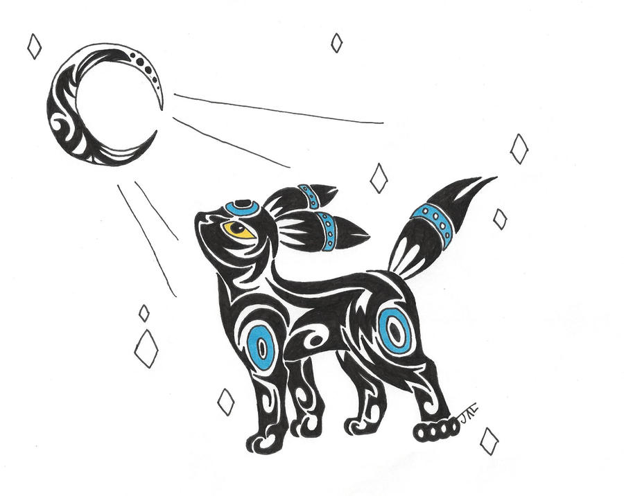 Tribal Pokemon Tattoos Umbreon | www.imgkid.com - The ...