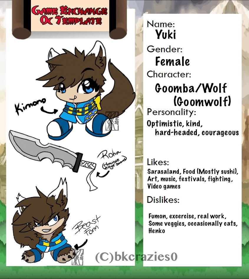 :Yuki: Game Exchange OC: Ref: by BKcrazies0