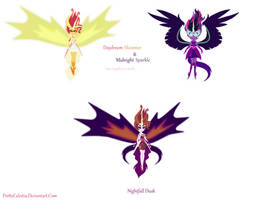 Daydream Shimmer and Midnight Sparkle Fusion