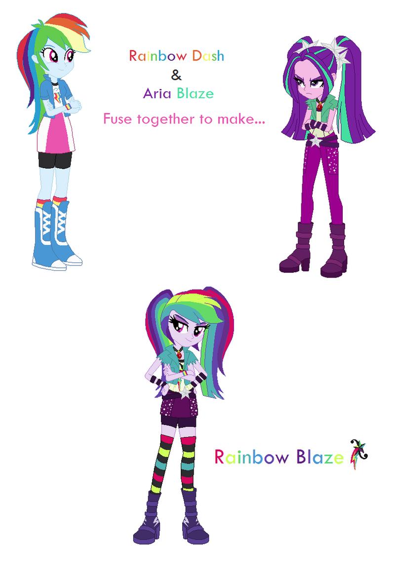 Rainbow Dash and Aria Blaze Fusion by PrettyCelestia on ...