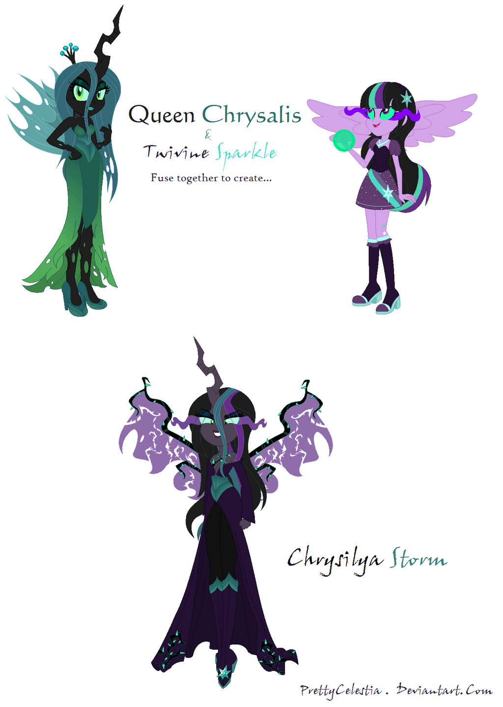 Queen Chrysalis and Twivine Sparkle Fusion by ...
