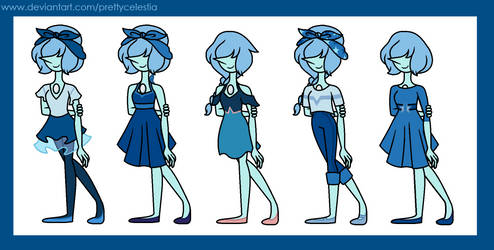 Blue Pearl Outfits by PrettyCelestia