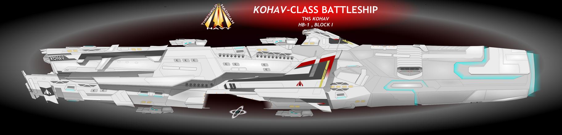 Kohav-Class Battleship by Afterskies