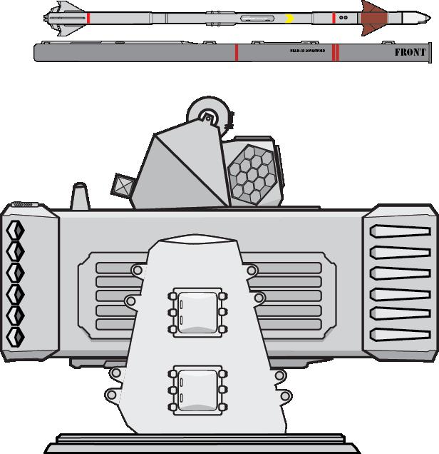 NRAM-32 Longsword Naval Rolling Airframe Missile by Afterskies