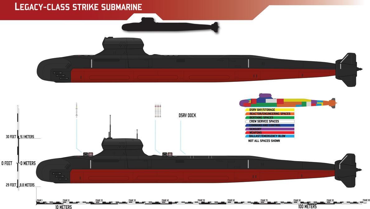 Legacy-class Strike Submarine Redux by Afterskies