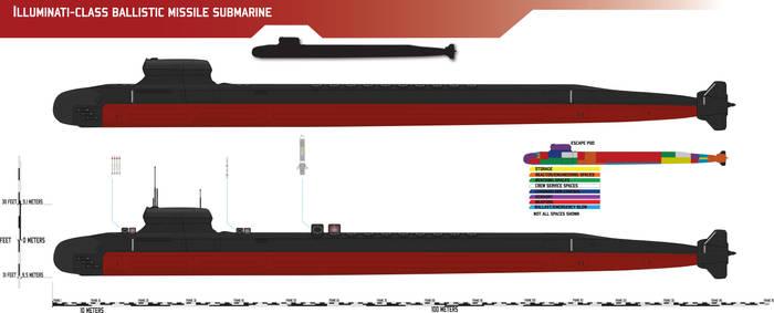 Illuminati-class Ballistic Missile Submarine by Afterskies