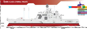 Sabre-class Littoral Frigate by Afterskies