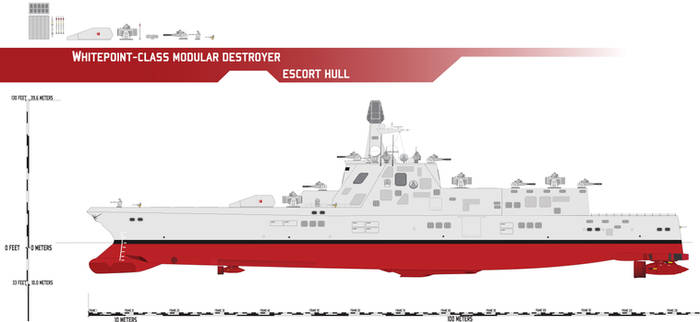 Whitepoint-class Modular Destroyer, Escort Hull