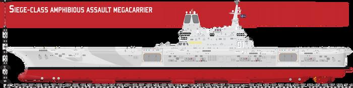 Siege-class Amphibious Assault Megacarrier by Afterskies