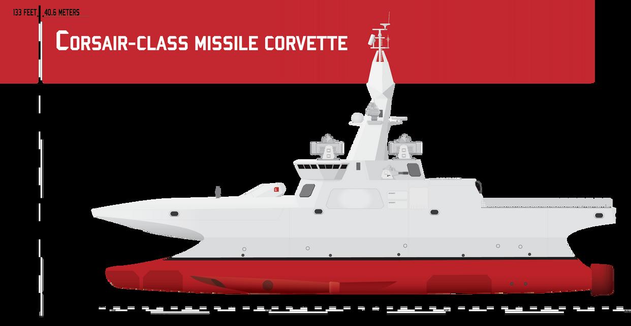 Corsair-class Multirole Corvette by Afterskies