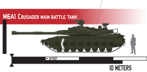 M6A1 Crusader Main Battle Tank by Afterskies