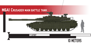 M6A1 Crusader Main Battle Tank - Reactive Armor