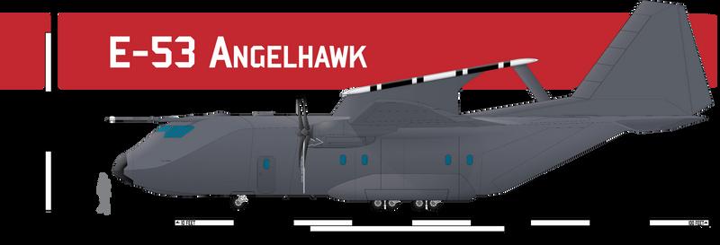 E-53 Angelhawk AWACS by Afterskies