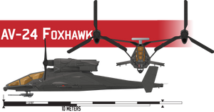 AV-24 Foxhawk Attack VTOL by Afterskies