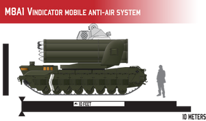 M8A1 Vindicator Mobile Anti-Air System by Afterskies
