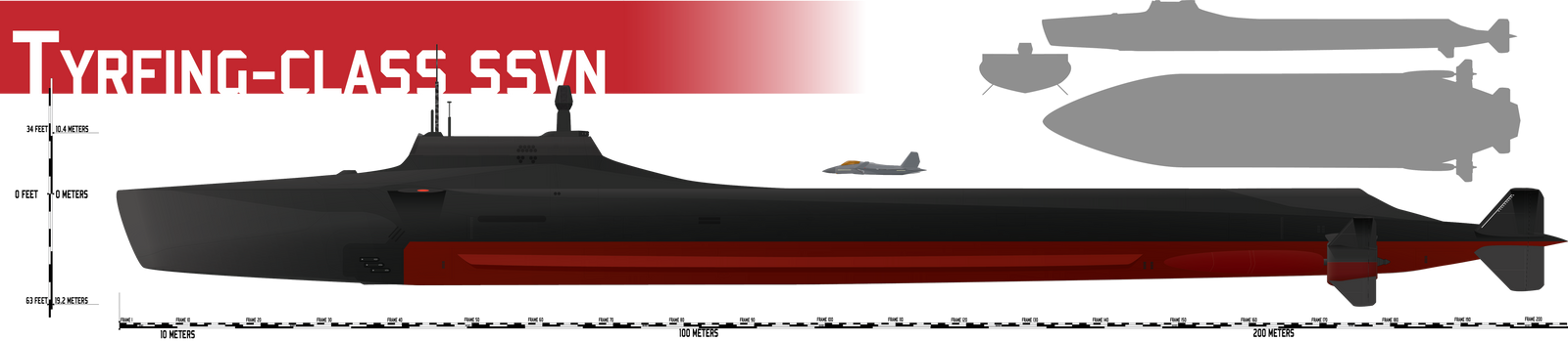 Tyrfing-class SSVN Submersible Strike Carrier by Afterskies