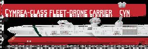 Cymrea-class Fleet Drone Carrier by Afterskies