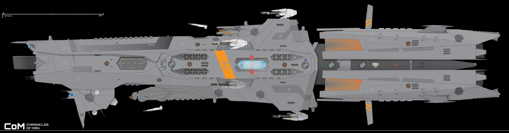 Lodestar-class Destroyer, TNV Yasa Redo by Afterskies