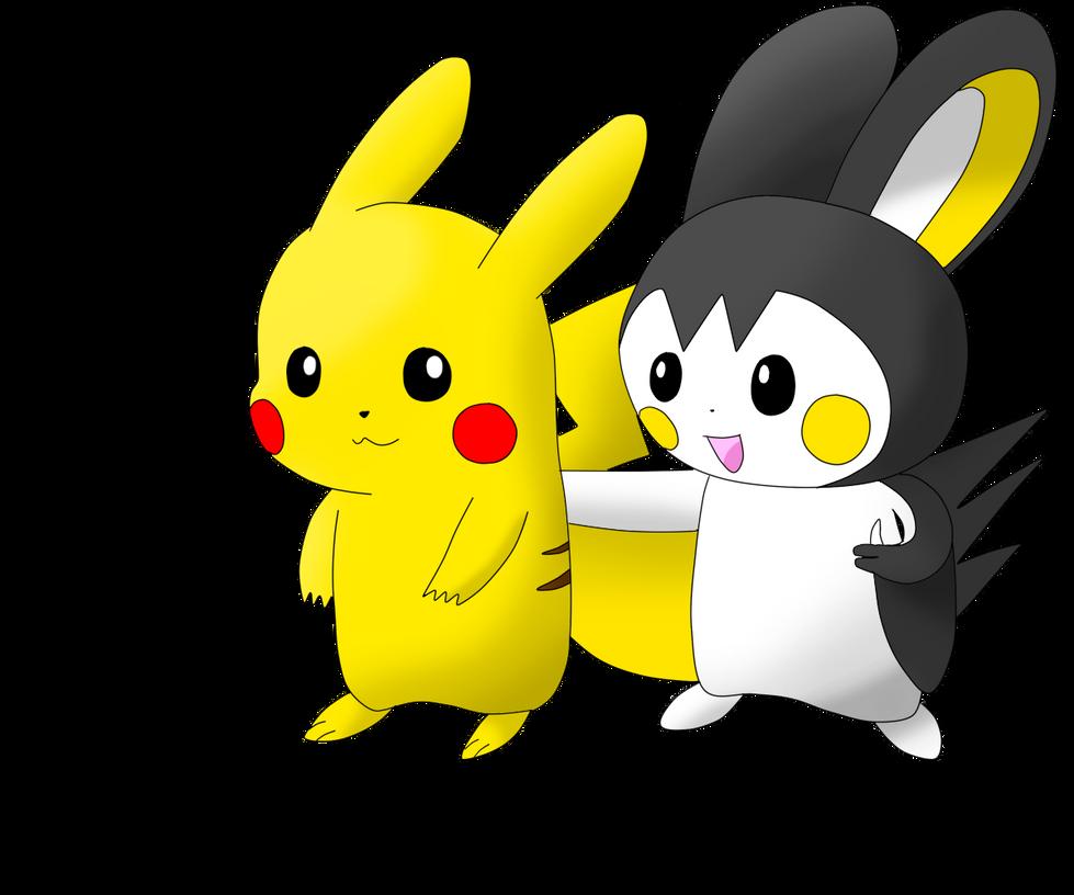 Pokemon Emolga And Pikachu Images   Pokemon Images